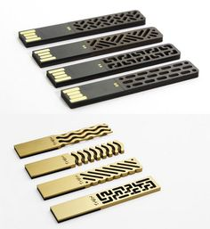 "Chinese design studio ""Then Creative"" presents a collection of delicately beautiful USB Drives that blend modern technology with traditional patterns."