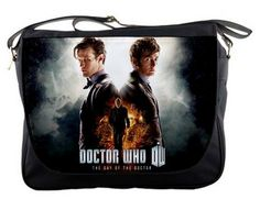 Doctor Who Tardis 14 Messenger Sling School by extraboomshop, $27.00