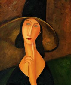 Femme au grand chapeau Amedeo Modigliani