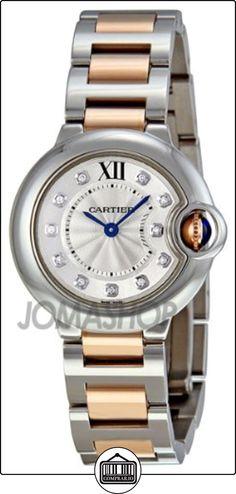 Cartier - Reloj de pulsera mujer, acero inoxidable, color plateado  ✿ Relojes para mujer - (Lujo) ✿