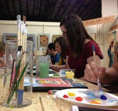 We have a wide variety of colors and paint brushes so you can choose what will best portray what you envision!
