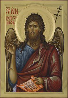 John the Baptist cm Byzantine Icons, Byzantine Art, Religious Icons, Religious Art, Masonic Symbols, Orthodox Christianity, John The Baptist, Orthodox Icons, Saints