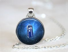 Dr Who Tardis Necklace Dr Who Jewelry by ExpressionsJewellery