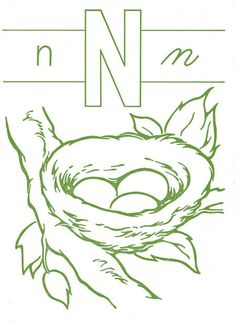 n is for nest... embroidery pattern #nest #embroidery #pattern