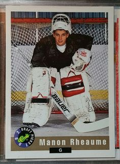 Ultra rare 1992 Classic Draft Picks Gold #59 Manon Rheaume Qty Made: 6,000 $30.00 Women's Hockey, Hockey Stuff, Hockey Cards, Baseball Cards, Manon, Tampa Bay Lightning, Prime Time, Nhl, Classic