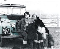 Paul McCartney and Linda Eastman-McCartney (Land Rover IIA)