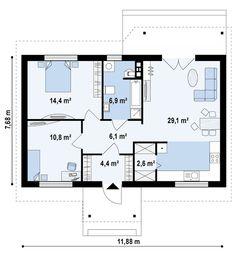 Проект дома Z72 - план-схема 1