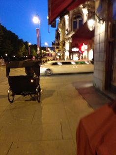 Limo and rickshaw on Karl Johans gate - Oslo, Norway