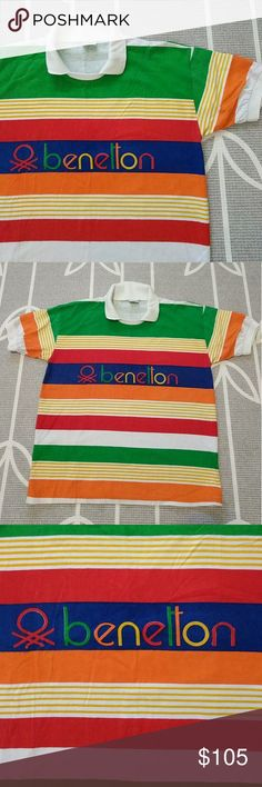 a8eb1a57ce5 Vintage Benetton Rugby Polo Nearly perfect condition Early 90s Benetton polo.  One small light spot. Rugby ShirtsBenettonKnitsVintage GreenVintage ...