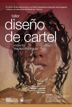 Cartel invitación a los talleres del laboratorio de diseño de San Luis Potosí