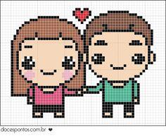 Couple in love perler bead pattern