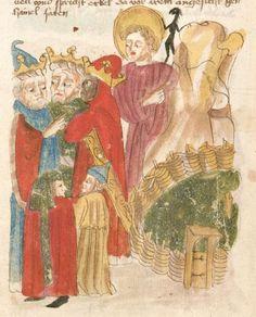Weltchronik. Sibyllenweissagung. Antichrist  BSB Cgm 426, Bayern,  3. Viertel 15. Jh  Folio 154
