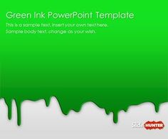 Archery powerpoint template is another free olympics sport free green ink powerpoint template is another awesome powerpoint background template that you can download with toneelgroepblik Image collections