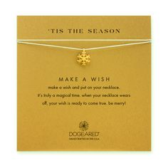 tis the season snowflake silver silk necklace, gold dipped - Dogeared | #PinWith<3 #GiftHeart #dogeared