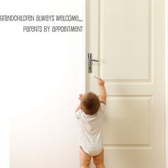 Grandchildren always welcome wal decal