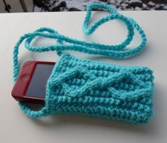 knitted Iphone pouch by dream60 on Etsy, $13.00