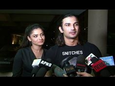 Sushant Singh Rajput with Ankita Lokhande at Manish Paul's birthday party.