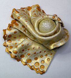 Damascus - Polymer clay pin - Mica shift | Flickr - Photo Sharing!