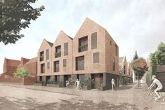 An up-and-coming practice run by two former David Chipperfield architects has been appointed to design 10 new homes as part of Hackney Council's emergent social housing drive Modern Residential Architecture, Brick Architecture, David Chipperfield Architects, Mews House, Social Housing, Facade, Palm Springs, Architects Journal, Chichester