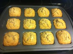 Banana muffins in the Pampered Chef brownie pan