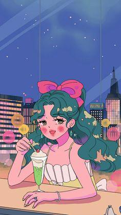 Cute Pastel Wallpaper, Kawaii Wallpaper, Cute Wallpaper Backgrounds, Cute Cartoon Wallpapers, Cute Art Styles, Cartoon Art Styles, Kawaii Drawings, Cute Drawings, Character Art