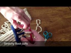 Stretchy Boot Cuff (How to end a cuff to make it stretchy).