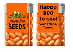 Personalized Halloween Party Favors. Tic Tac Candy Wrappers / Labels. Charlie Brown The Great Pumpkin Seeds. Snoopy.
