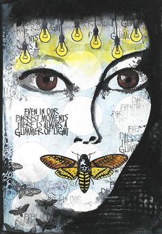 Art Journal Page with Visible Image Stamps                                                                                                                                                                                 More
