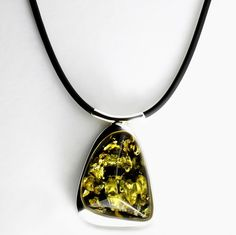Green Amber Necklace Magnificent Green Amber by AmberStoneRing