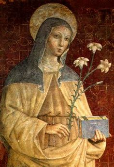 Happy Memorial of St Clare of Assisi – August 11 ne of the more sugary movies made about Francis of Assisi pictures Clare as a golden-haired beauty floating through sun-drenched fields, a sort of one-woman counterpart to the new Franciscan Order. Catholic Art, Catholic Saints, Roman Catholic, Francis Of Assisi, St Francis, Patron Saints, Religious Icons, Religious Art, Ste Claire