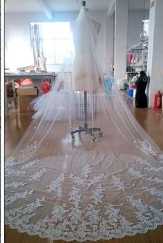 You can't amaze people without bridal and veil on DHgate.com and you can also choose wedding veil prices and drop veil. fashion2015store thinks that Luxury White/Ivory 2015 Fshion Cathedral Veil 2 Tiers Lace Edge Pearls Bridal Wedding Veil 300cm Custom can make you a pretty bride.