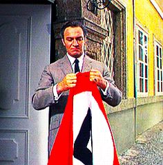 #Christopher_Plummer 's character in #The_Sound_Of_Music ripping a Nazi flag