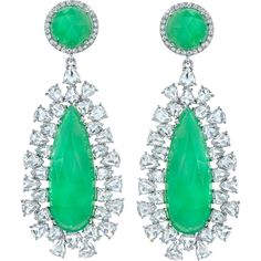 Irene Neuwirth Chrysoprase Drop Earrings