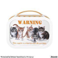 'Protected by kittens' lunch box