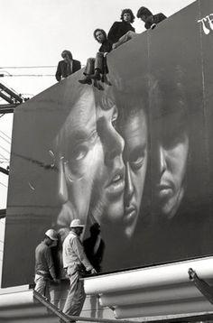 The Doors, atop their Sunset Strip billboard (1967)