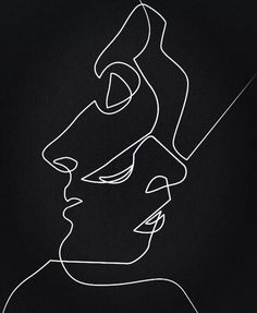 Juniqe Dark Faces Line Drawing Poster Diy Tattoo, Line Art, Art Sketches, Art Drawings, Indie Drawings, Contour Drawings, Wallpaper Telephone, Family First Tattoo, Affordable Wall Art
