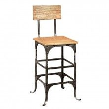 Bleeker Recycled Wood Counter Stool