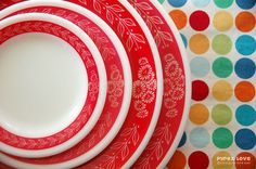 gorgeous red pyrex dishes