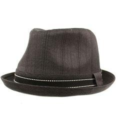huge discount 53174 f91a8 Men s Fancy Suit Fabric Derby Fedora Stingy Curled Brim Hat Black 56cm M L 7