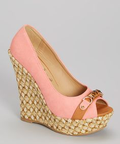 Pretty Pink Platform Wedge