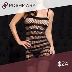 Women Sexy Lingerie Fishnet Crotchless Open Crotch Women Sexy Lingerie Fishnet Crotchless Open Crotch Dress Bodystocking Fetish Black Intimates & Sleepwear Shapewear