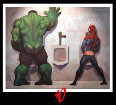 Hulk & Spider-Man by Ariel Olivetti