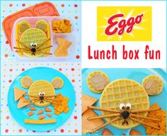 Created by Kitchen Fun With My 3 Sons. With Eggo Packed Lunch Boxes, Easy Lunch Boxes, Lunch Ideas, Box Lunches, School Lunches, Fun Crafts, Crafts For Kids, Adult Lunch Box, Eggo Waffles