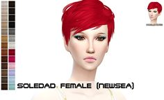 Porcelain-Warehouse: Newsea`s Soledad hairstyle retextured - Sims 4 Hairs - http://sims4hairs.com/porcelain-warehouse-newseas-soledad-hairstyle-retextured/