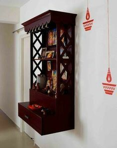 Best 5 pooja room designs for Indian homes - Truww Indian Home Interior, Indian Home Decor, Home Interior Design, Indian Room, Bed Design, House Design, Temple Design For Home, Mandir Design, Diy Cabinet Doors