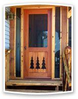 Rustic Screen & Storm Door from Vintage Doors. Big collection of Storm Doors from usa. Also deals in Manufacturer of Rustic Screen & Storm Door Wood Screen Door, Wooden Screen, Screen Doors, Cabin Doors, Vintage Doors, Little Cabin, Cabin Interiors, Cabins In The Woods, Storm Doors
