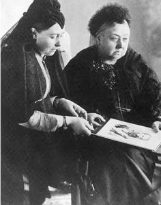 Empress Friedrich of Germany and her mother, Queen Victoria, 1897