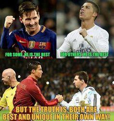 Niektórzy uważają, że Lionel Messi jest najlepszy • Niektórzy uważają, że Cristiano Ronaldo • Tak naprawdę obaj są najlepsi • Zobacz >> #messi #lionelmessi #ronaldo #cristianoronaldo #football #soccer #sports #pilkanozna