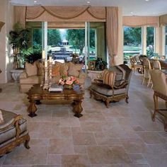 A gorgeous Authentic Durango Stone tile living room is just a phone call away. Meet your account manager today by calling Stone Tile Flooring, Travertine Floors, Living Room Tiles Design, Stone Store, Versailles Pattern, Pinterest Home, New Room, Tile Design, Home Living Room