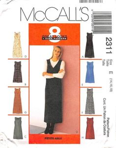 MCCALLS 2311 - FROM 1999 - UNCUT - MISSES DRESS OR JUMPER